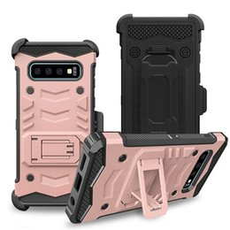 Hard clip Holster online shopping - Defender Hybrid Holster Case for iphone s Plus X Xs Max XR Samsung Galaxy S10 Shockproof Hard Cover Belt Clip Kickstand