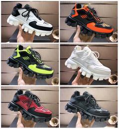 Prada shoes ur hommes Cloudbust de luxe surdimensionné Chaussures de sport légère Semelle en caoutchouc Chaussures de sport de grande taille 3D Trois dames en Solde