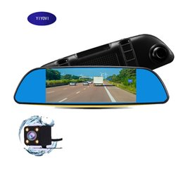 camera rearview mirror full hd UK - Full HD 1080P Car Dvr Camera Auto 7 Inch Rearview Mirror Digital Video Recorder Dual Lens Registratory Camcorder