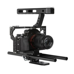 Rigs For Dslr Cameras Australia - Portable Camera Video Stabilizer Cage Rig + Top Handle Grip Kit For DSLR
