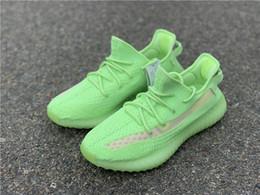 Shoes Glow Dark Women Australia - Authentic Kanye West 350S V2 EG5293 Glow In The Dark EG5293 Primeknit Men Women Running Shoes 5293Yeezy Sports Sneakers Designer Trainers