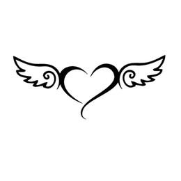 Sticker Angel Wings Australia - Angel heart angel wings sticker vinyl decal car window doors bumper Vinyl Hobby Car Bumper Sticker