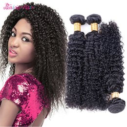 $enCountryForm.capitalKeyWord Australia - Pamina Hair 3 4pcs Afro Kinky Curly Human Hair Extensions Natural Black Full Head Brazilian Remy Hair weave Free Shipping