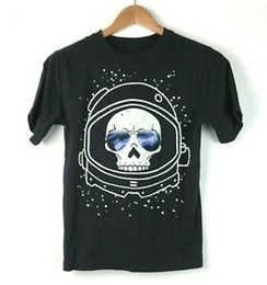 Glow Shirt S NZ - Est 1989 Place Kids L Space T Shirt Glow in the Dark Skull Astronaut Helmet