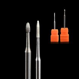 Metal Cutter Machine Australia - 1PCS Small Metal Carbide Head Milling Cutter Burrs Nail Drill Bit Electric Machine Pedicure Accessory Nail Drill File TRPD02 03