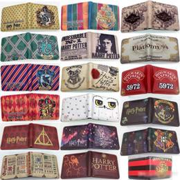 Vente en gros Harry Potter Hommes Portefeuilles Marque De Luxe RFID Bifold Portefeuille Zipper Coin Porte-Cartes Porte-Cartes Titulaire