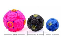 Pet Puzzle Toys Australia - Leakage Pet Food Ball Hot Trumpet Sound Leakage Food Ball Dog Toy Pet Shrieking Ball Puzzle Resistant Teeth Bite Dog Toys 3 Sizes