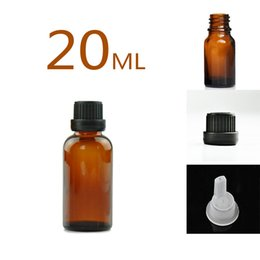 personal tool Canada - Glass Bottles for Essential Oils 20 ml Refillable Empty Amber Bottle with Orifice Reducer Dropper and Cap DIY Supplies Tool & Accessories