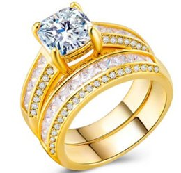 $enCountryForm.capitalKeyWord Australia - Wish women fashion jewelry zircon 925 silver gold plated lovers ring wedding engagement birthday Christmas festival gift