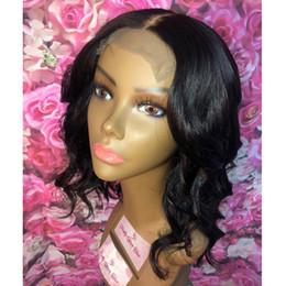 $enCountryForm.capitalKeyWord NZ - Glueless Virgin Brazilian Wavy Short Cut Human Hair Lace Front Wigs Full Lace Wigs For Black Women Bob Style wig