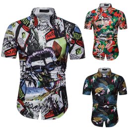 Shirts Flower For Man Australia - 2019 New Style Short Sleeve T shirts Men 3d Fashion flower Printed Casual Shirt Summer Man CLothes for Beach Holiday Stand Collar