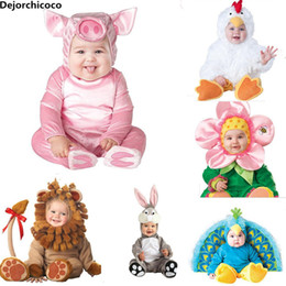$enCountryForm.capitalKeyWord Australia - 2018 New Fashion Baby Halloween Rompers Cute Animal Cosplay Boys Jumpsuits Pink Pig Girls Shape Baby Costumes Infants Clothes J190524