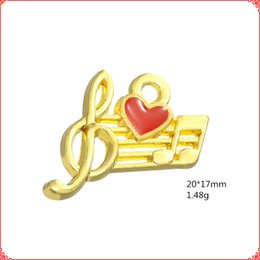 $enCountryForm.capitalKeyWord Australia - 30pcs Yiwu Jewelry Retro Alloy Handmade Oil Dropping gold Musical Symbol charms music note enamel pendants fashion DIY Accessory Material