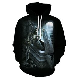 $enCountryForm.capitalKeyWord Australia - Cool new design men's skull 3D printed hoodie men's and women's personality fun design sweatshirt casual thin style hoodie