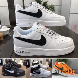designing shoe boxes Canada - With box Sale 2019 New Design Forces Men Low Skateboard Shoes Cheap One Unisex 1 Knit Euro Air High Women All White Black Red TYW1C