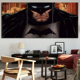 $enCountryForm.capitalKeyWord Australia - Batman DC Comic Art Poster Wall Art Prints oil painting on 3 Piece Canvas Picture Wall Painting For Living Room No Frame