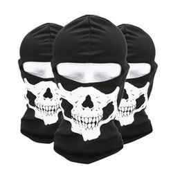 Full Face Costume Mask Australia - Tactical Full Face Mask Balaclava Motorcycle Cycling Hunting Outdoor Ski Ghost Skull Masks Costume Helmet Dec28