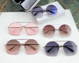 Light Color Mixing Australia - Luxury women brand designer sunglasses Fashion Style Mixed Color Irregulari Frame for women Top Quality eye glasses UV light color M-12