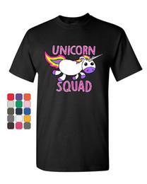 Fairy Tees NZ - Unicorn Squad T-Shirt Fantasy Rainbow Magical Cute Fairy Tale Mens Tee Shirt Custom t shirt logo text photo Mens Womens