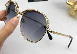 Green man charms online shopping - New fashion designer sunglasses diamond charming cat eye frame popular style for women top quality selling uv400 protection eyewear