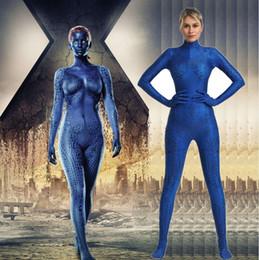 Carnival Suits Kids Australia - X-Men Mystique Costumes Cosplay 3D Printed Zentai Suit Grils Costume Halloween Catsuit Superhero Costume