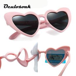 $enCountryForm.capitalKeyWord Australia - Hot Baby Girl Sunglasses For Children Heart Tr90 Uv400 Black Pink Red Heart Sun Glasses For Kids Polarized Flexible
