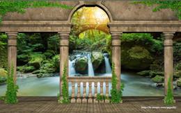 $enCountryForm.capitalKeyWord Australia - Custom Wallpaper 3D Stereoscopic Original mysterious garden balcony waterfall Art Wall Mural Living Room Bedroom Wallpaper