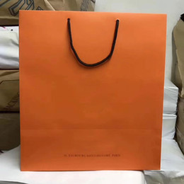 Wholesale luxury paper bags brand shopping bags high quality paper gift bag free shipping sizes 29cm 32cm 43cm hadled paper bags on Sale