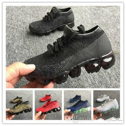 Wholesale 2018 Best kids Cushion Running Shoes Children boy girls Red pink Triple Black White Infant toddler Walking Sports Athletic Sneakers