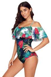 eee6face61e5d Женские сексуальные цельные купальники женские с принтом 2019 летние  пляжные бикини сексуальная леди цельный купальник на