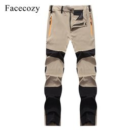 Summer Uv Pants NZ - Facecozy Men Summer Quick Dry Outdoor Sports Thin Ultralight Anti-uv Hiking Pants Male Elastic Breathable Fishing Trousers C19041201