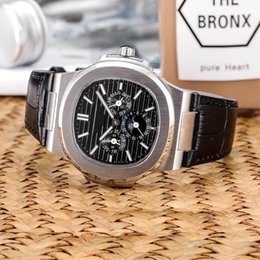 AutomAtic chronogrAph wAtches leAther online shopping - Top Nautilus Watch Men Automatic Luxury Watches leather strap Mens Mechanical Orologio di Lusso Wristwatch Date Chronograph Designer Watches