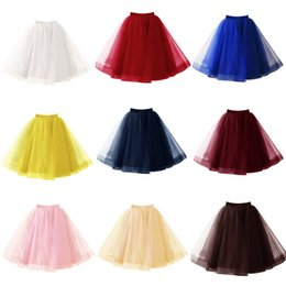 petticoats for cheap Australia - 2020 In Stock Knee Length Wedding Petticoat Skirts Tulle Tutu Skirts For Wedding Bridal Dress Cheap Underskirt Crinoline 10 Colors CPA1090