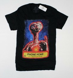 Et shirt online shopping - ET The Extra Terrestrial Phone Home Spielberg Black T Shirt New E1