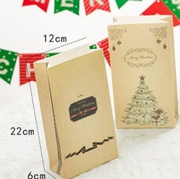 Snack pack bagS online shopping - 4Pcs Snack Biscuits Packing Bags Merry Christmas Party Decoration Candy Bag Festival Gifts Christmas Gifts Paper Bag