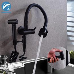 $enCountryForm.capitalKeyWord Australia - Matte Black Spray Hopper Kitchen Sink Faucet Cold Dual Water Outlet Single Handles Universal Rotation Kitchen Faucet Mixer Taps