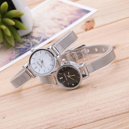 $enCountryForm.capitalKeyWord Australia - Woman watch 2019 Ladies Small exquisite watch Silver Stainless Steel Mesh Band Wrist montre femme bayan kol saati Q