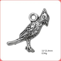 $enCountryForm.capitalKeyWord NZ - 30pcs Antique vintage tibetan silver animal little bird charms metal dangle alloy pendants for necklace bracelet earring diy jewelry making