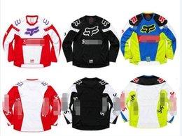 Nuevo servicio sup cuesta abajo traje de montaña FOX montar en bicicleta de la bicicleta camisa de manga larga HONDA verano todoterreno ropa de la motocicleta camiseta en venta