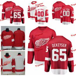 9e0c033da 2019 Detroit Red Wings Danny DeKeyser Jerseys Customize Home Red Shirts #65  Danny DeKeyser Hockey Jerseys S-XXXL