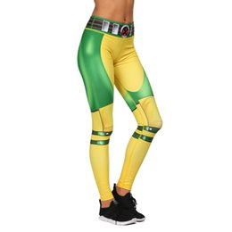 Girls Yoga Leggings Australia - Women Leggings Yellow Green Hero 3D Graphic Print Girl Skinny Stretchy Yoga Wear Pants Lady Gym Fitness Pencil Fit Soft Trousers