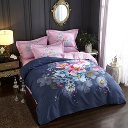 Cotton Bedsheets King Size NZ - Beautiful Flowers Bedding Set Queen King Size Bedsheets Duvet Covers Brushed Cotton Printed Home Textiles for Winter