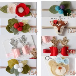 Wholesale Fashion handmade felt rose flower cartoon animals Diy for hair accessories headband ornaments Baby Princess Elastic hair band