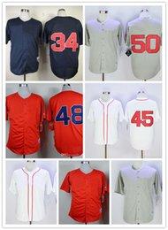 Хорошее качество мужские бейсбольные Майки 26 Уэйд Боггс 34 Дэвид Ортис 48 Пабло Сандовал бейсбол 100% сшитые Майки цвет красный серый синий белый на Распродаже