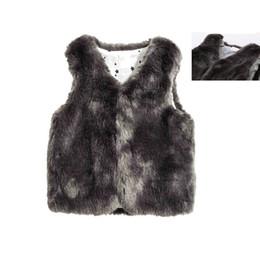 $enCountryForm.capitalKeyWord NZ - Luxury Winter Kid Clothes For Girl Children Synthetic Leather Warm Coat Toddler Girl Fur Vest Sleeveless Jacket For Children