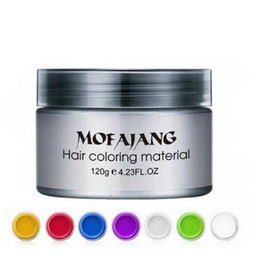 $enCountryForm.capitalKeyWord Australia - Mofajang hair wax for hair styling Mofajang Pomade Strong style restoring Pomade wax big skeleton slicked 7 colors