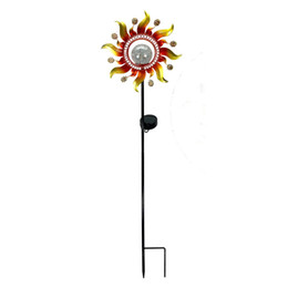 Ironing Products Australia - Solar sun wrought iron lamp outdoor garden lawn plug-in lamp home small garden decoration products can be customized