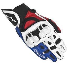 Real Leather Racing Gloves Australia - 2017 new MOTOGP racing riding gloves short-fingered locomotives full-fingered gloves carbon fiber real leather outdoor rider anti-fall