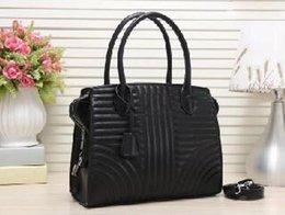 $enCountryForm.capitalKeyWord Australia - 2019 Lady Hand bag PU Leather Handbags Designer Fashion Lady Shoulder Bags Women Wallet Clutch Tote bag Black Vertical stripe Casual Tote