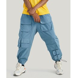 $enCountryForm.capitalKeyWord Australia - VFIVE UNFOUR Hot Sale 2019 Autumn Winter Streerwear Men Pants Cargo Sweatpants Multi Pockets Elastic Waist Beam Feet jumpsuit Casual Pants